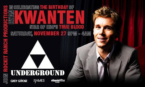 True Blood's Ryan Kwanten Celebrating Birthday at The Underground