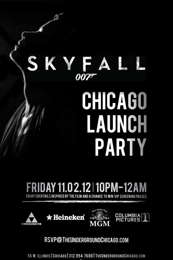 James Bond Skyfall Launch Party The Underground Chicago – James Bond Party Invites