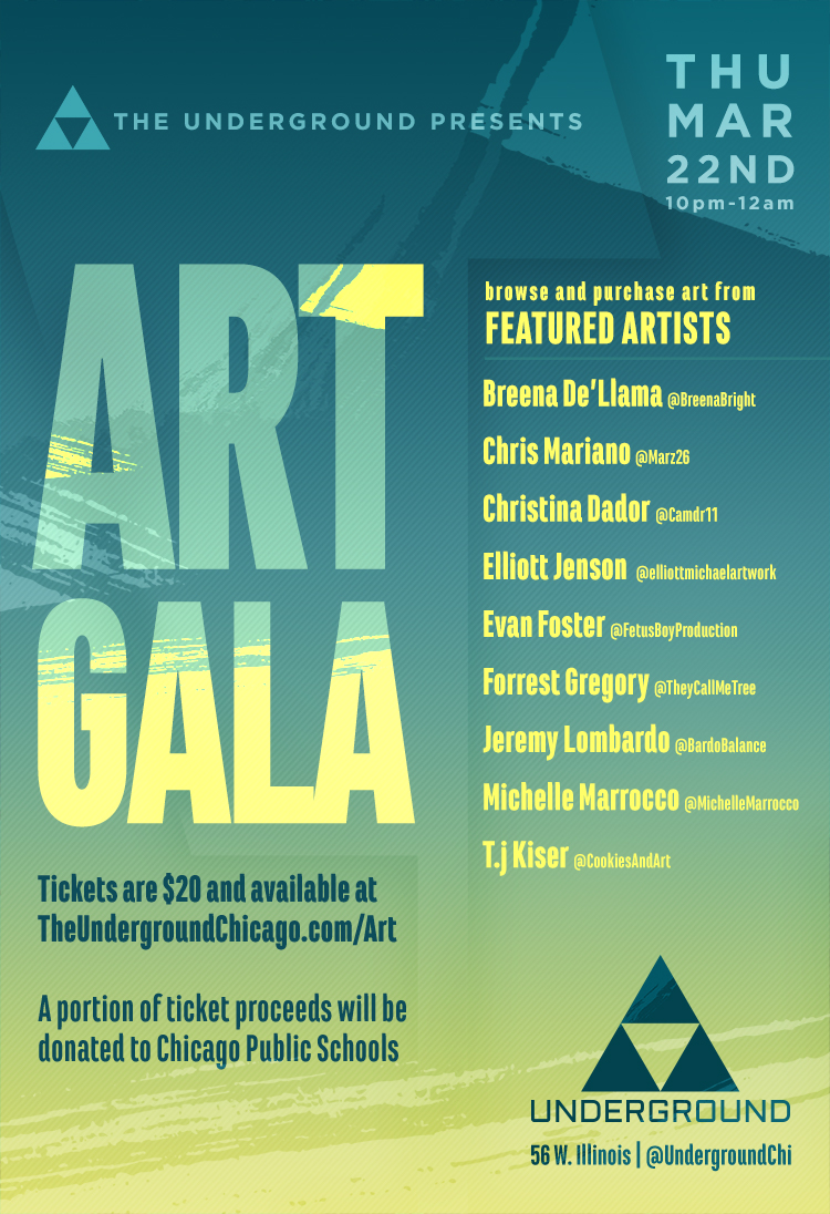 The Underground Presents: Art Gala Benefiting CPS